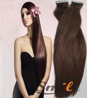 Wholesale brazilian human virgin remy tape hair extensions g piece g set color price AAAAAA grade