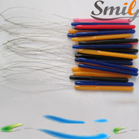Wholesale Freeshipping Plastic Handle Threader Stainless Steel Wire Pulling Micro Rings Links Loop Hair Extension Tools