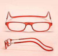 Wholesale Hot Sale Adjustable Fashion magnetic reading eyeglasses Front Connect Reader unisex reading glasses colors ej870520
