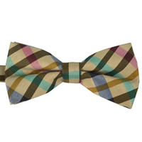 Wholesale NEW Men Classic Plaid Bow ties Fashion Neckwear Adjustable Unisex Mens cotton Bowties for wedding Polyester Pre Tied