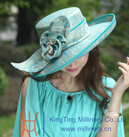 Wholesale Winter Vintage Formal Women Hats For Church Fashion Dress Hair Accessories Satin Dress Hat Ladies