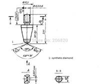 Wholesale diamond vickers c indeners degrees quality diamond indenter for hardness tester Shanghai Yiyan