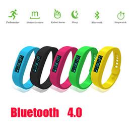 Wholesale Fitbit Model Bluetooth Healthy Bracelet Pedometer Calorie Burnning Sleeping Moniter Stopwatch Long Standby Wristband