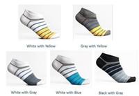 Wholesale Men Mens Fashion Low Cut Ankle Cotton Sport socks Stripe Colorful White Black KS and Retail