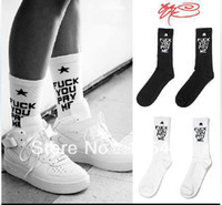 Cheap Wholesale-Don`t Miss!!! 15$=1lot=4pairs! Ssur fuck you pay me socks skateboard socks men and women socks knee-high thick thread