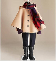 Cheap Wholesale-2014 Hot Selling Brand Classic Baby's Warm Jacket girl's Outerwear children's Windbreaker kids Fashion Cloak manteau