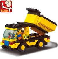 dump truck - Freeshipping SLuban Building Block Dump Truck D Jigsaw Puzzle Education assembling toys for kids M38 B9500