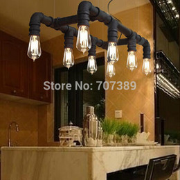 Popular:4 8 heads Edison Personalized bar Lighting counter lamps vintage dinning room pendant lights water pipe pendant lamp.