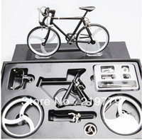 Wholesale DIY handmade Assembled alloy Metal Bike Bicycle building Kits Model Decoration Craft Gift Box Educational Toys for Kids boys