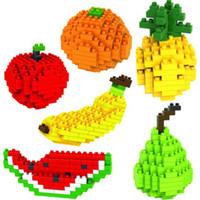 Wholesale Funny Different Creative Mini Fruits Plastic Building Blocks Educational Toy