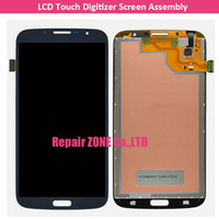 Cheap 100% tested New LCD Touch Digitizer Screen Assembly for Samsung Galaxy Mega 6.3 i527 i9200 i9205 free shipping with logo