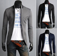 Wholesale Mens Blazers Slim Fit Stand up Collar Suits For Men Casual Blazer Clothing Plus Size XXXL