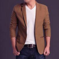 Wholesale Brand New Spring Autumn Fashion Top Quality Men s Casual Suit Boys Jacket Coat Large size Blazer XL XL