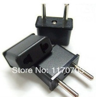 Wholesale 50 v v EU Plug Universal US to EU AC Power Plug USA To Euro Plug Travel Converter Adapter