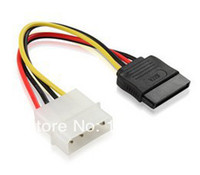 Wholesale 30 SATA Power Cable IDE TO SATA power cable Pin IDE To Pin SATA HDD Power Adapter Cable
