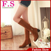 Wholesale Fashion Winter Women s Med Heel Knee High Snow Boots For Women Casual Dress Sexy Vintage Boots Warm Fur Shoes WB743