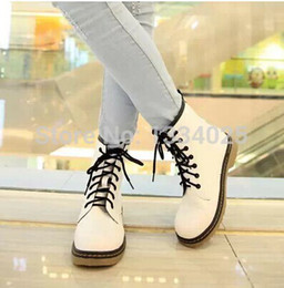 Wholesale-Women's Women's Ankle Booties Three Colors Combat Lace Up Autumn Boots