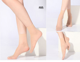 Wholesale 5 Pairs Unisex Clear Color Crystal Ultrathin Transparent Elastic Short Invisible Sock Socks Free size