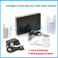 android selection - New year promotion Support Smart IOS Android Apps SMS Auto dial Home Security GSM alarm system with multi language for selection