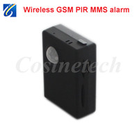 Wholesale Mignon mini Wireless PIR Infrared Sensor Motion Detector Anti theft GSM Alarm System Auto Answer security MMS alarm Dropshipping