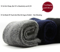 angora wool - Top Quality Luxury Men Winter Warm Ultra Thick Cashmere Socks Wool Socks Angora Rabbit Hair Socks Pairs