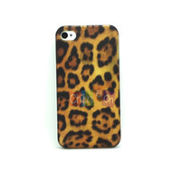 Cheap Wholesale-2014 New Arrival Luxury Leopard Prints hard case Hard Skin Cover Case Protector Shell for Apple iphone 4 4S