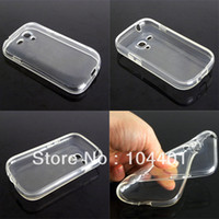 Cheap Wholesale-New Thin Clear Silicon TPU Soft Transparent Case Cover For Samsung Galaxy S3 mini I8190 Free Shipping
