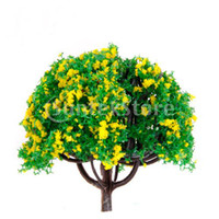 Wholesale inch Scenery Landscape Train Model Trees w Yellow Flowers Scale