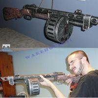 Wholesale hot sales DIY paper model gun Fallout Semi automatic shotgun Firearms diy paper d model