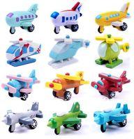 Wholesale New Arrival Children Education Wooden Toys Mini Plane Wood Airplane Models per set
