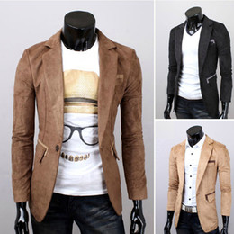 Discount Men Suede Blazer | 2017 Men Suede Blazer on Sale at ...