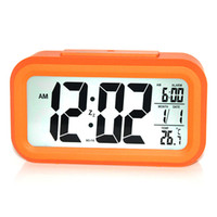 plastic table clock - Newest Cute LED Alarm Clock Table Clock Snooze Night Light Multifunction Plastic Hot Sale Good Quality Clock