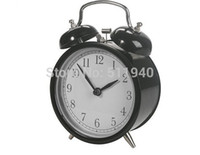 glass table clock - piece classic steel frame glass front double bell desk table mini alarm clock