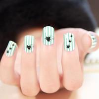 Wholesale Short design little cat false nails tips for sale acrylic false nails art decoration display fake nail patch