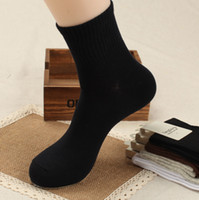 bamboo socks - Autumn and Winter Men Socks Businessman Bamboo Fiber Antibacterial Deodorant Commercial Casual Socks For Men For Seasons