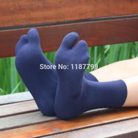 Wholesale pairs Men Women cotton Two Toe Socks Healthy Care Japanese Geta socks knee high socks chaussette colors