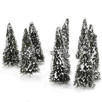Wholesale White Dark Green Scenery Landscape Model Cedar Trees cm