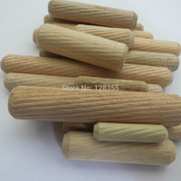 Wholesale M8X40MM grooved fluted wooden dowel pin Wooden Dowel Sticks DIY Hobby Craft furniture screws bolts