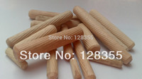 Wholesale M8X50MM grooved fluted wooden dowel pin Wooden Dowel Sticks DIY Hobby Craft furniture screws bolts
