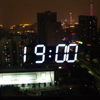Wholesale Creative Remote Control Large Digital LED Wall Clock Modern Design Clocks Home Decor Watch Decoration Decorative Black White