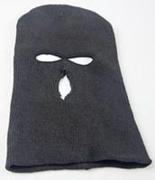 Wholesale Motorcycle Bike Cycling Racing Windbreak Hat Cap Holes Face Mask Shield Black