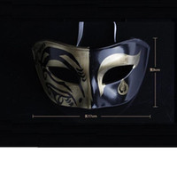 Wholesale Party Mask Men Halloween Venice Mask black Hand painted horror black face maskmasque Cosplay cm PS ultra light