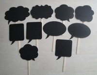 chalk a-board - Different size Photo Booth Props For Party Plain Black Card Board On A Stick Chalk