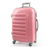 Wholesale 24 ABS PC Spinner caster trolley rolling luggage with password box