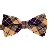 cdm - CDM Big Promotion men s fashion plaid bow tie polyester and cotton woven tie bowtie casual wear Adult Butterfly