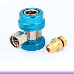 Wholesale Low Side AC R134a Quick Connector Adapter Coupler Auto Air Condition Blue
