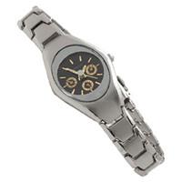 Cheap Black Dial Silvery Metal Band Lady Quartz Wrist Watch Bdytw