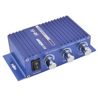 Wholesale SON A W Aluminum Case Car Auto Stereo Audio Amplifier Blue