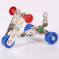 Wholesale Metal intellectual assembling toy for children The motorcycle Model tablets