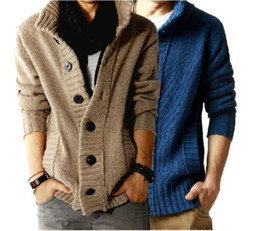 Wholesale Men s New Korea Style Sweater Thick Cardigans Men Button Sweaters